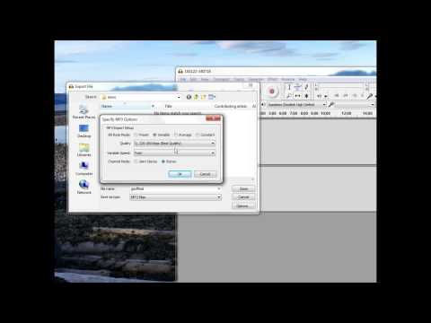 How to Export a MP3 from Audacity with Best Quality Settings - YouTube