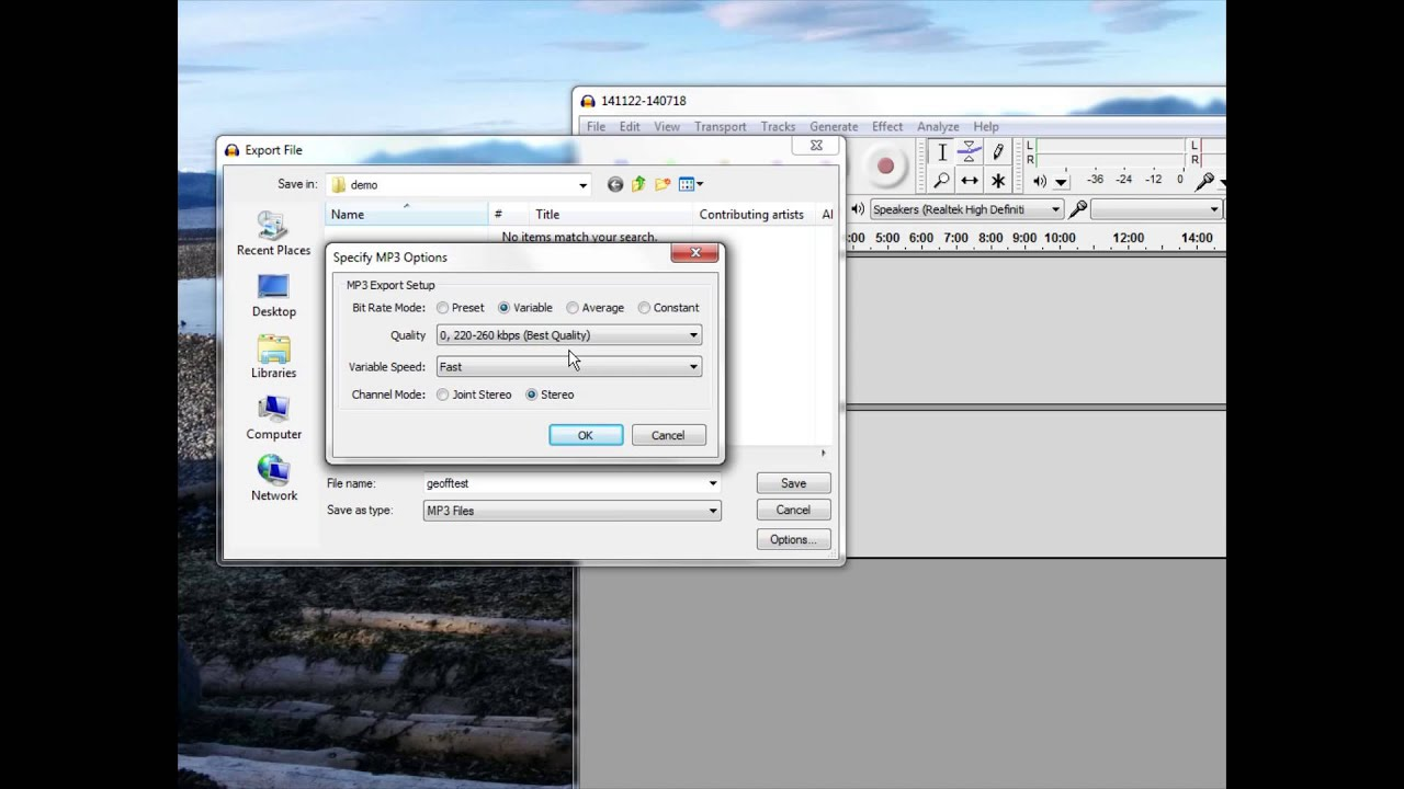 How to Export a MP3 from Audacity with Best Quality ...