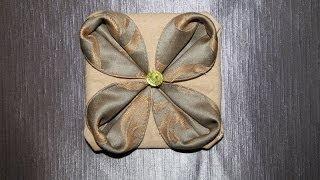 """Оригами из ткани цветок """"Анемона"""""""
