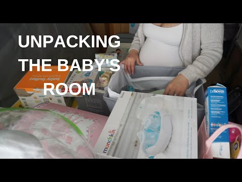 UNPACKING THE BABY'S ROOM | ORGANIZATION VIDEO | UNPACK WITH ME