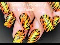 Tiger Stripe Nail Art | Neon Animal Print Tutorial