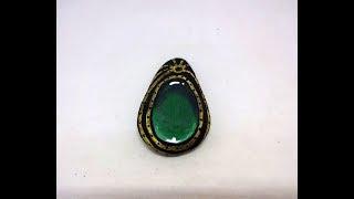 Cómo pintar piedras: colgante con piedra preciosa pintada - Pedreta de Riu