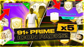 What do you get from 5 Guaranteed 91+ Prime Icon Packs?