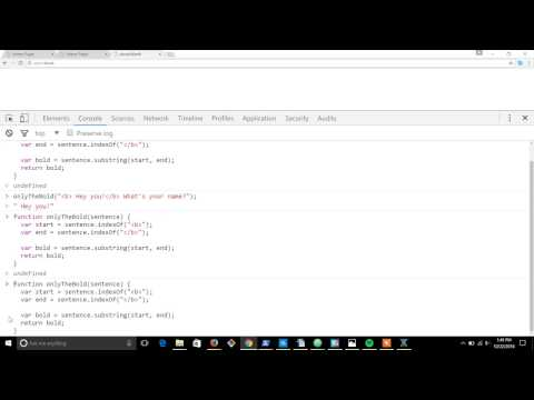 Javascript function practice: Only bold text
