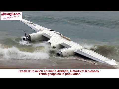 Crash d'un avion en mer à Abidjan port bouet, le temoignage de la population