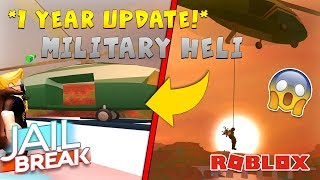 ROBLOX JAILBREAK 1 YEAR ANNIVERSARY!! MILITARY HELICOPTER UPDATE *EPIC!* (Roblox)