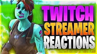 KILLING FORTNITE TWITCH STREAMERS WITH REACTIONS! (Fortnite Battle Royale)