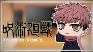  ¦☁️Jujutsu kaisen reacts to tiktok's☁️¦  (Re-upload(finally found the copyright T-T))