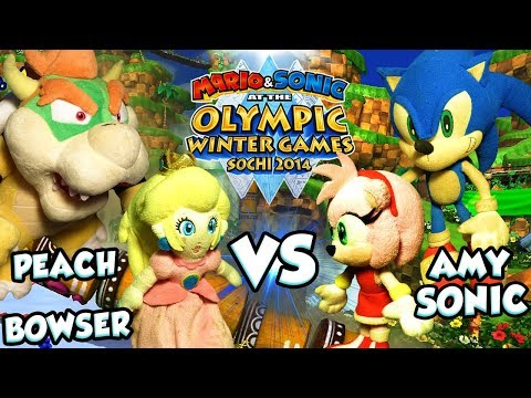 ABM: Bowser & Peach Vs Sonic & Amy !! Hole In One Curling!! Sochi 2014 Olympic Games!! ᴴᴰ