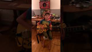 Leo the punk boy doing god save the queen by the sex pistols