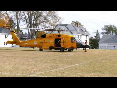 USCG MH-60T Jayhawk helicopter start-up and take-off