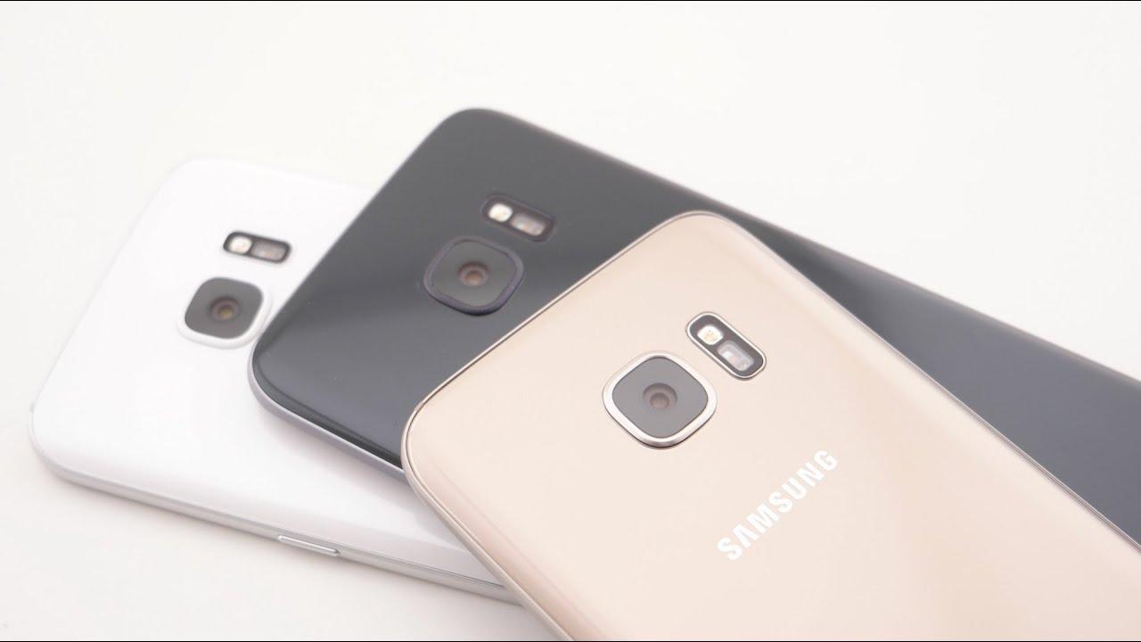 Samsung Galaxy S7/edge - die Farben im Vergleich - YouTube
