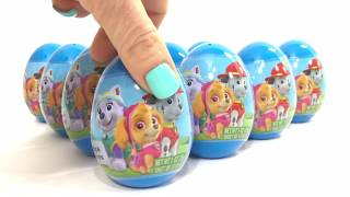 PAW PATROL SURPRISE EGGS Opening Toys Paw Patrol FAIL Marshall, Skye & GIVEAWAY | CoolToys