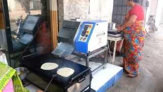 semi automatic triangle paratha roti making machine