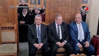 «أحمد ذكي بدر وشاكر وخالد عبدالعزيز» في عزاء والدة وزير الصحة السابق