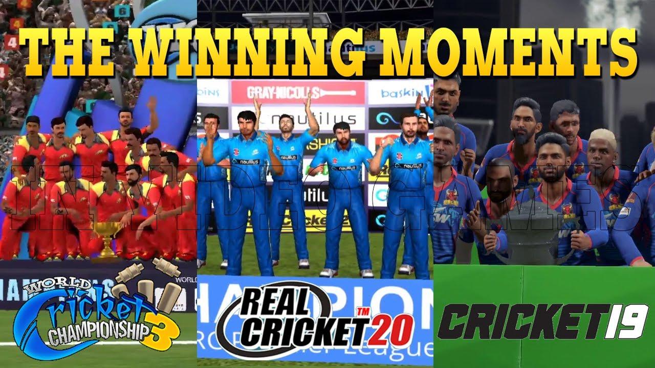 Trophy Winning Celebration - IPL NPL RCPL- Real Cricket 20 ,Cricket 19, World Cricket championship 3