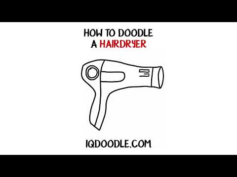 How to Draw a Hairdryer (drawing tips)