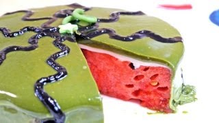 Watermelon Glacage Cake With Aojiru Recipe Summer Recipes