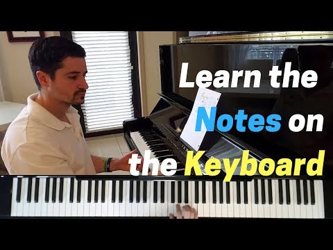 The Musical Alphabet and Notes on the Keyboard