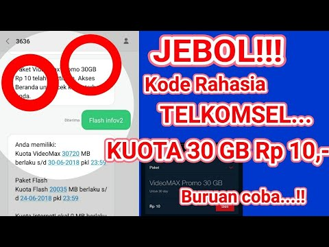 Jebol Kode Rahasia Telkomsel Paket Kuota Gratis 30 Gb Rp10