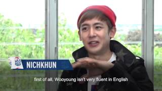 Nichkhun talks about Wooyoung | 2PM WILD BEAT | E!