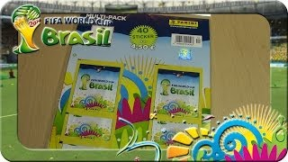Panini Fifa World Cup Brasil 2014 MULTIPACK 8 Päckchen Unboxing