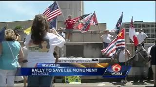 Dozens turn out in support of Gen. Robert E. Lee monument