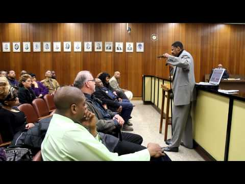 North Chicago City Council meeting public comments from Ralph Peterson, cousin of Darrin Hanna