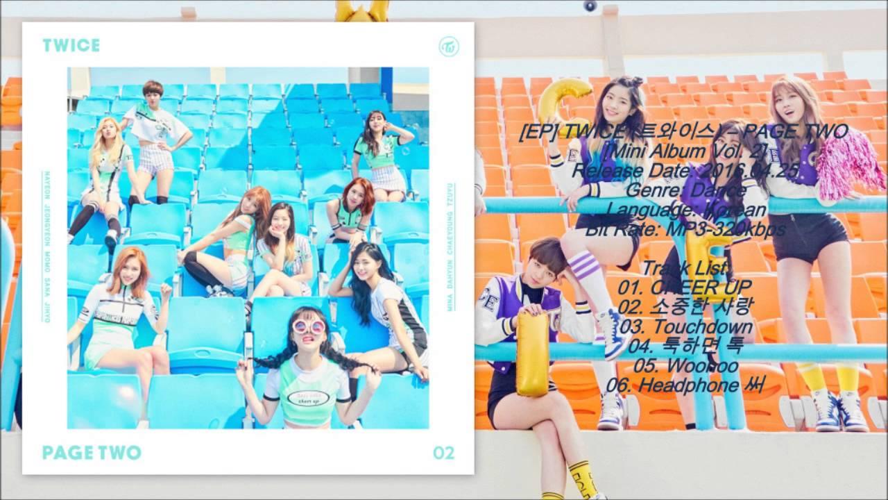 [MP3/DL] TWICE (트와이스) - CHEER UP [PAGE TWO Mini Album Vol  2]