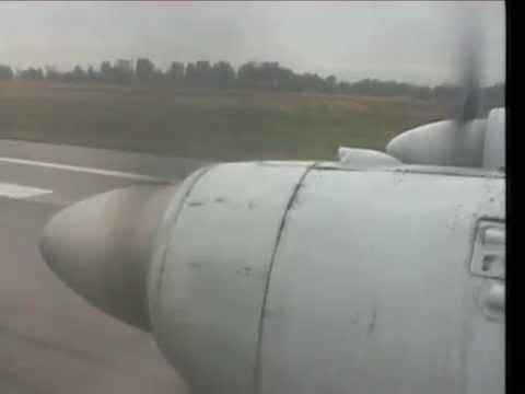 THE SIGHT & THE SOUND 6/10 : Balkan Bulgarian IL-18 LZ-BEU inflight documentary from Varna to Sofia