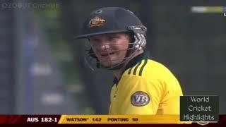 Shane Watson 185* (96) vs Bangladesh in 2011, with 15 sixes