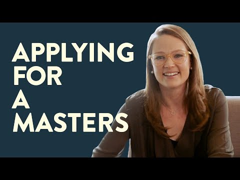 Applying For A Master's