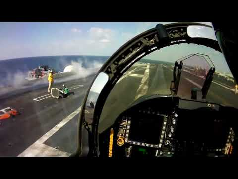F 18 Catapult Launch from Pilot POV full HD   Aircraft carrier operations