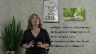 Reduce Knee Pain - Do You Squat or Plop When You SIt? Pilates Fitness Tips