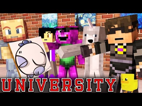 "Minecraft UNIVERSITY! - ""ART MAJOR MADNESS"" #1 (Minecraft Roleplay)"