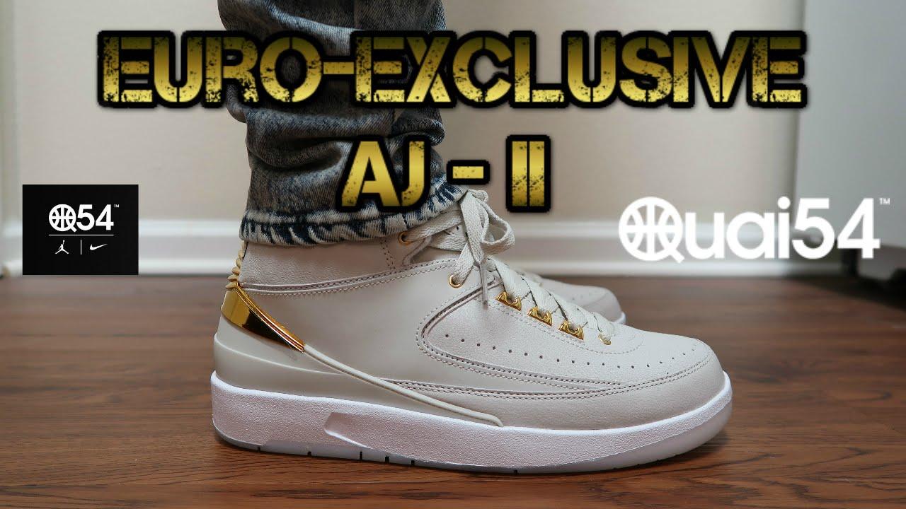 90e2cd09a3408c ... discount air jordan 2 retro quai 54 most limited retro jordan sneaker  of 2016 youtube 70bba ...