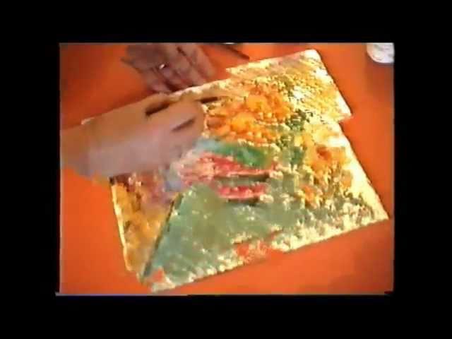 Como Pintar Con Temperas Sobre Papel De Aluminio Youtube
