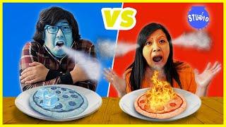 Hot Food VS Cold Food CHALLENGE!!