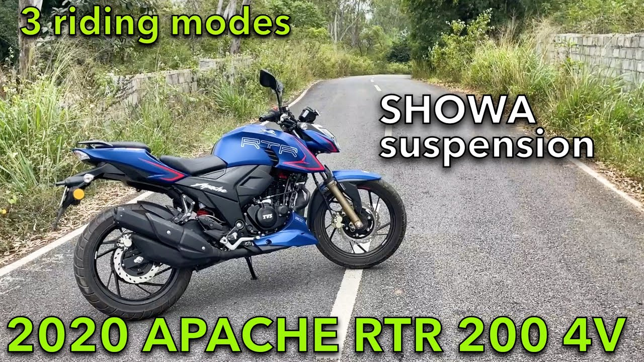 2020 TVS APACHE RTR 200 4V : Review || Showa suspension, 3 riding modes, TOP SPEED, Exhaust sound