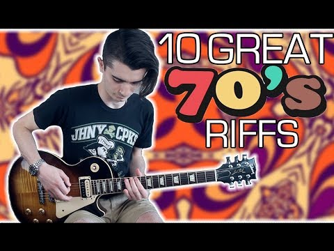 10 Great 70s Guitar Riffs w Tabs