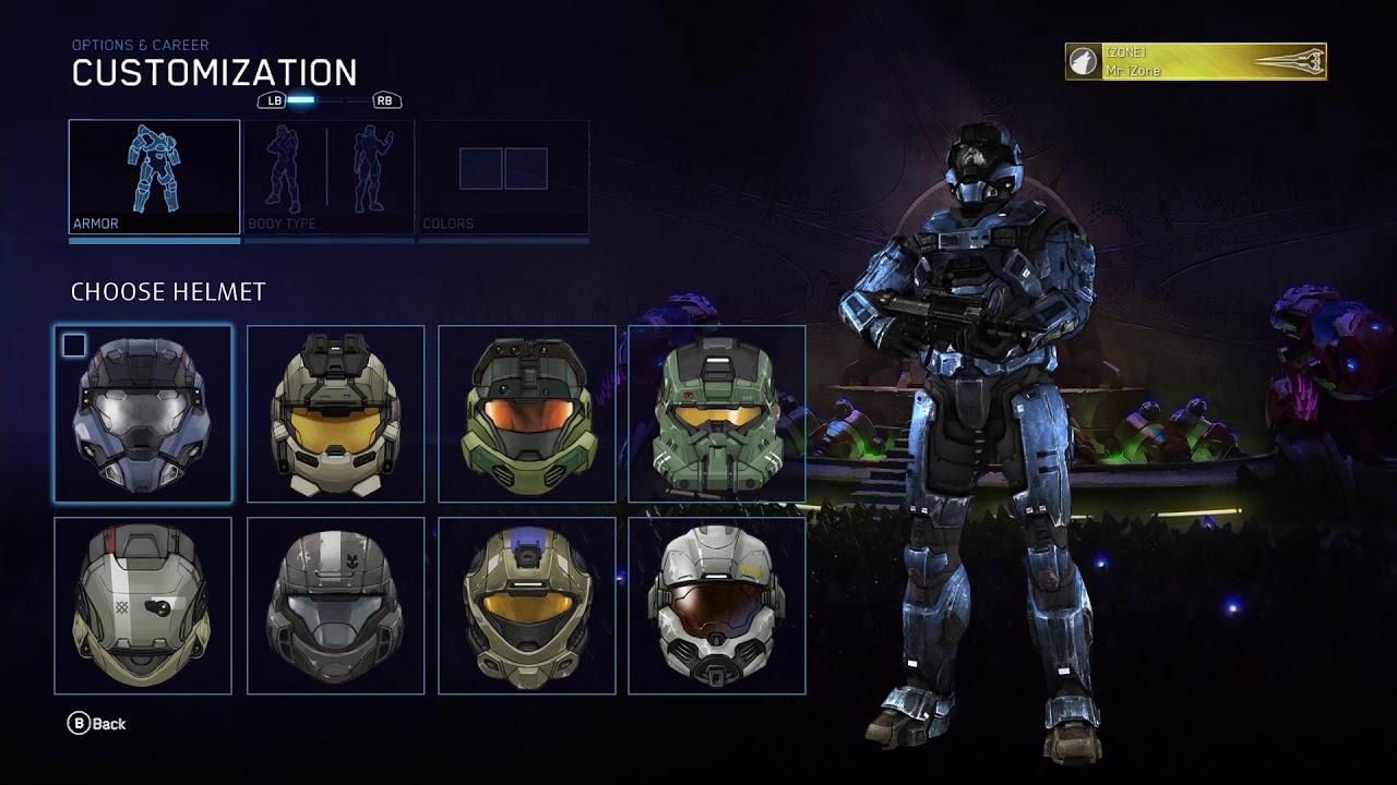 Halo Reach Mcc Armor Customization Menu Concept
