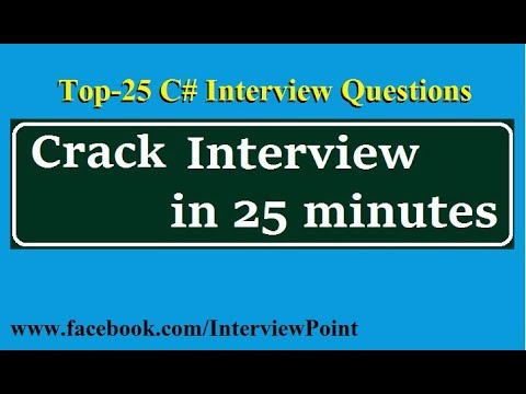 Top-25 C# interview Questions with Answer   Important Interview Questions on C#