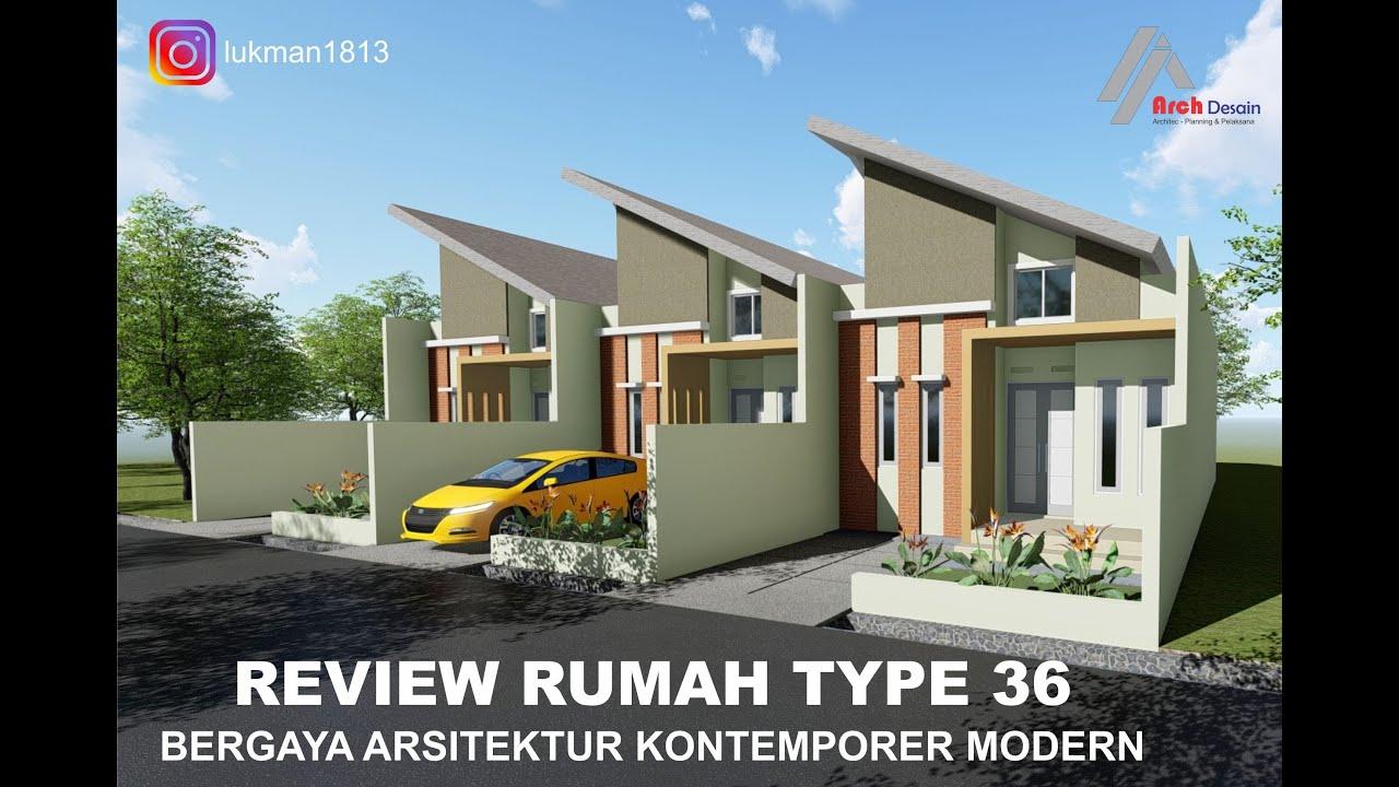 Review Rumah Type 36 Bergaya Arsitektur Kontemporer - YouTube