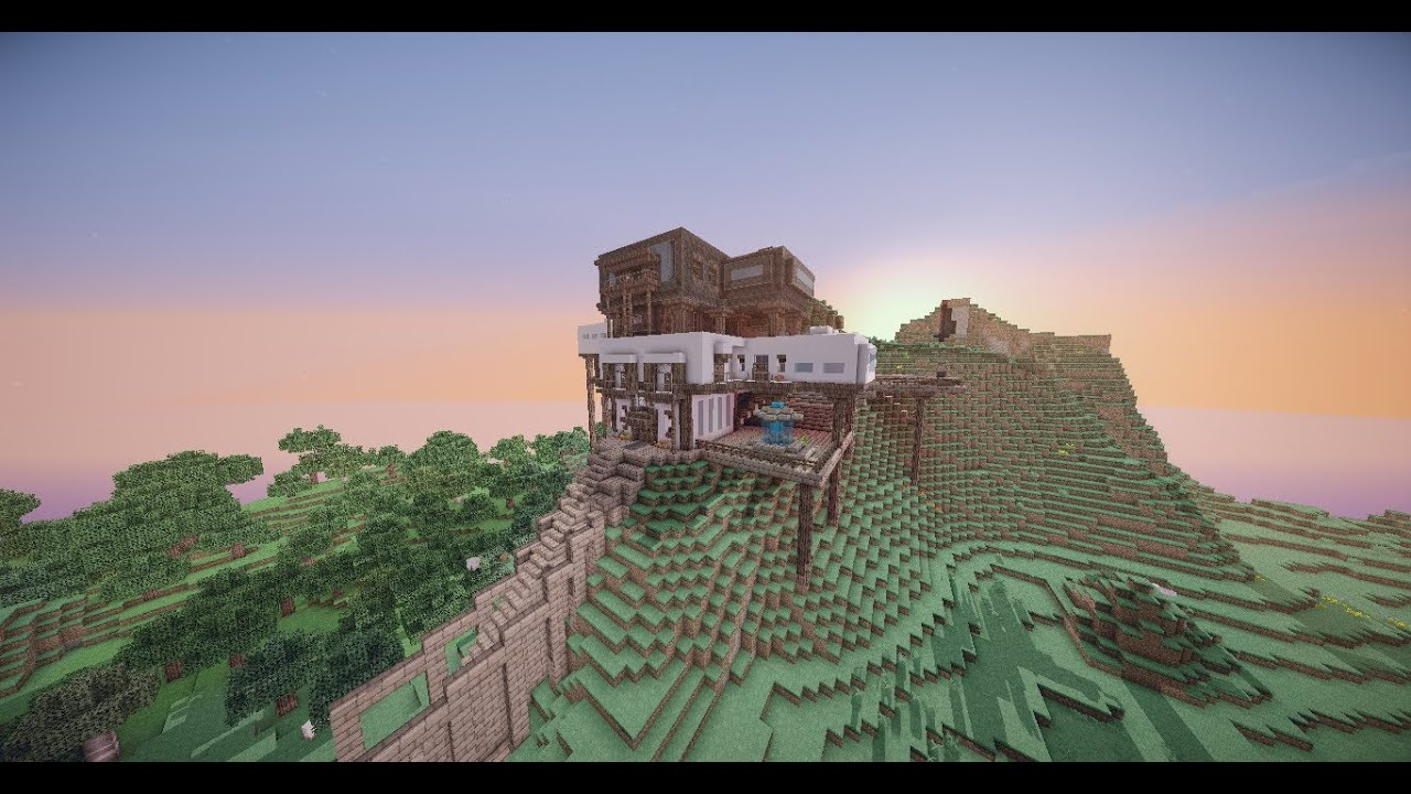 Modern mountain house minecraft timelapse casa moderna for Casa en la montana