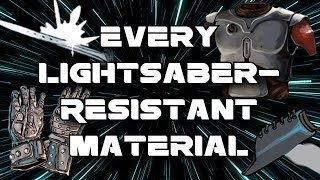 Every Lightsaber-Resistant Material in Star Wars Legends