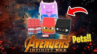ROBLOX - THE AVENGERS INFINITY WAR ROBLOX PETS!!!