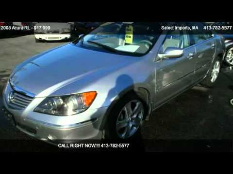 2008 acura rl 3 5rl w tech pkg for sale in springfield ma 01109 youtube. Black Bedroom Furniture Sets. Home Design Ideas