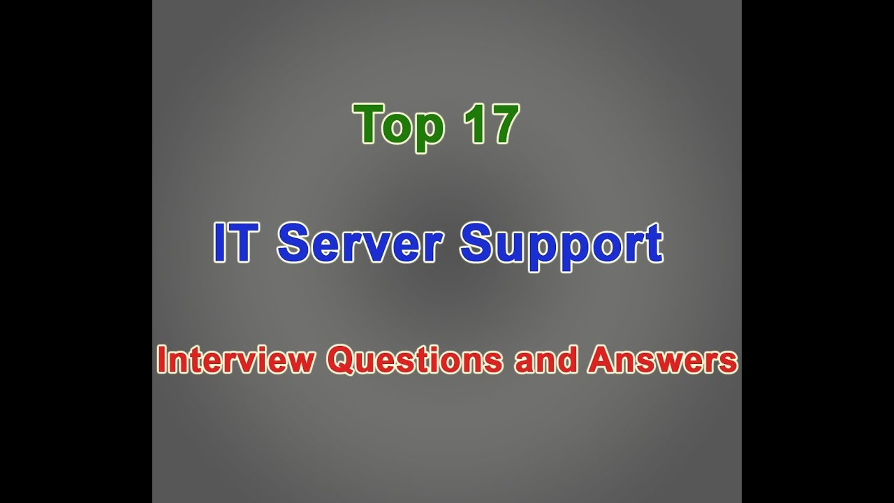 help desk support interview questions