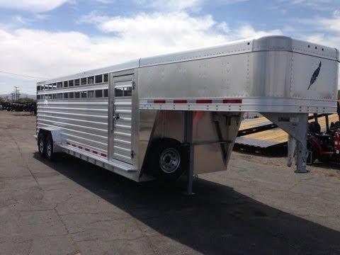 8127 Livestock Trailer, Gooseneck Stock Trailer, Featherlite Aluminum Trailers, Cow Trailer