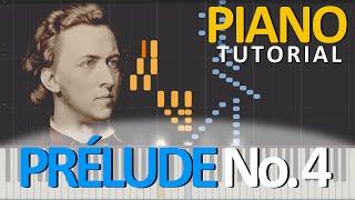 PRÉLUDE No. 4, Op.  28 - Frédéric Chopin [Piano Tutorial] [Synthesia]